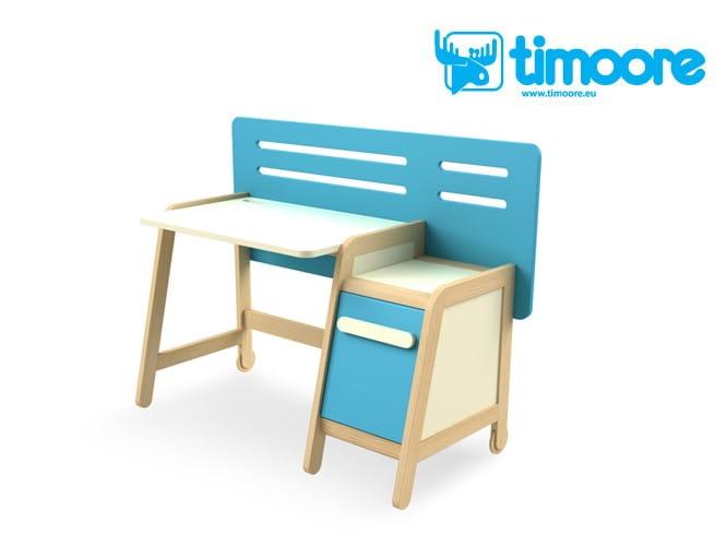 Timoore Simple Zestaw 1 Biurko Z Kontenerkiem Szafa Krzesełko 2 Półki Wiszące 2 Ramy Regału Pojedynczego 6 Kubików