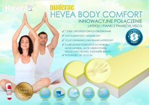 Hevea Body Comfort Visco Lateks 140x200 / 200x140 + GRATIS PODUSZKA VISCO